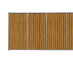 Ворота откатные из дерева