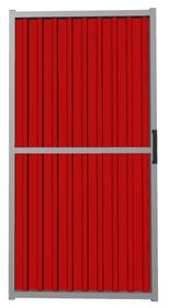 Калитка из профлиста красная