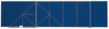 Ворота откатные из профлиста синие