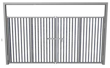 Ворота распашные из решетки сталь