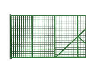 Ворота откатные из сетки Гиттер
