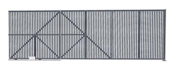 Ворота откатные из решетки