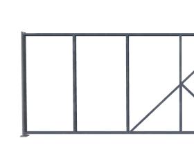 Откатные ворота без наполнения
