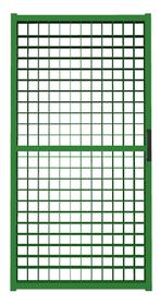 Калитка из сетки гиттер зеленая