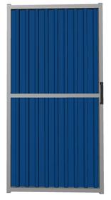 Калитка из профлиста синяя