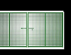 Ворота распашные из сетки Гиттер